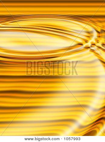 Golden Liquid Ripples