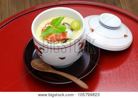 chawanmushi, steamed egg custard, japanese food