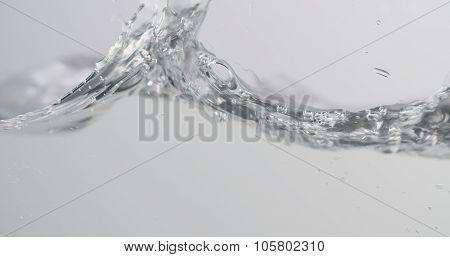 water waves in aquarium slow motion