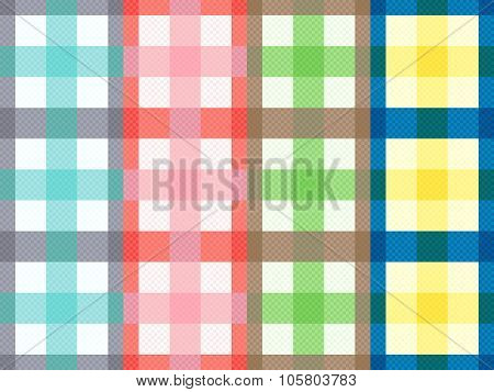 Rectangular Seamless Pattern With Motley Stripes