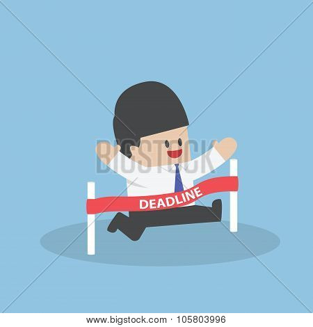 Businessman Crossing The Deadline