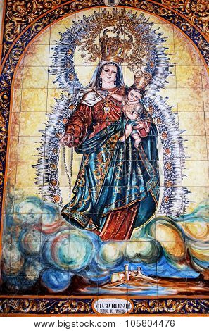 Patron of Fuengirola image in the church.
