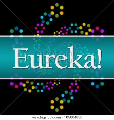 Eureka Dark Colorful Neon Square Horizontal