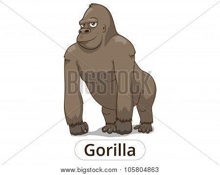 Gorilla cartoon vector illustration