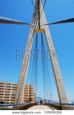 Modern footbridge, Fuengirola.