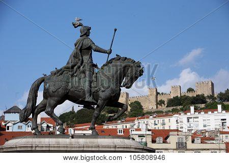 Europe Portugal Lisbon Baixa Castelo