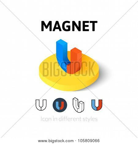 Magnet icon in different style