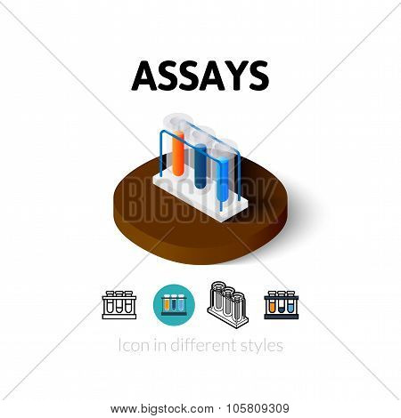 Assays icon in different style