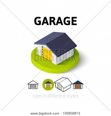 Garage icon in different style