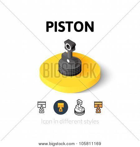 Piston icon in different style