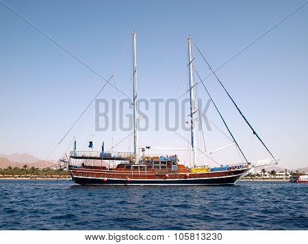 Sailboat Against Egyptian Shoe