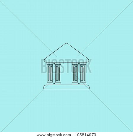 court building vector icon