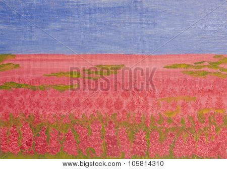 Rose-bay Meadow, Painting