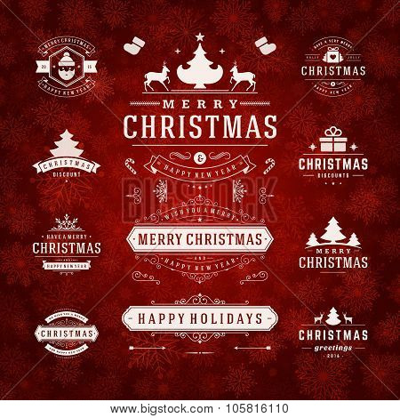Christmas Decorations Vector Design Elements