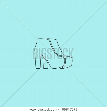 Two Woman Shoes. Vector Illustration