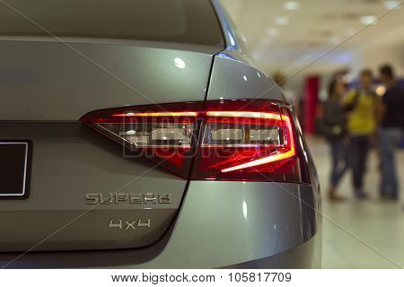 New Skoda Superb In The Prague Airport