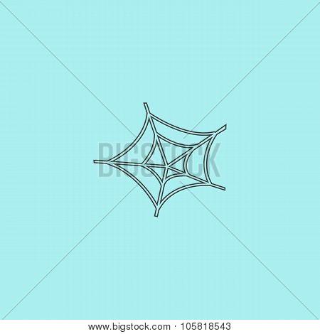 Spiderweb icon. Web symbol.