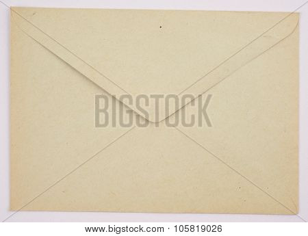 Vintage Envelope Clean Gray Color On A White Background