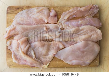 Chicken Raw Filets Ready To Cook