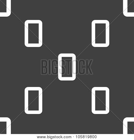 Number Zero Icon Sign. Seamless Pattern On A Gray Background. Vector