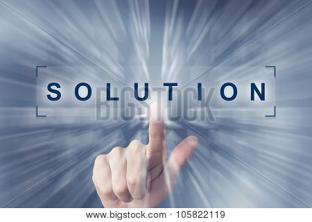 Hand Clicking On Solution Button