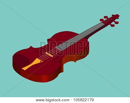 Isometric classical acoustic  violin icon