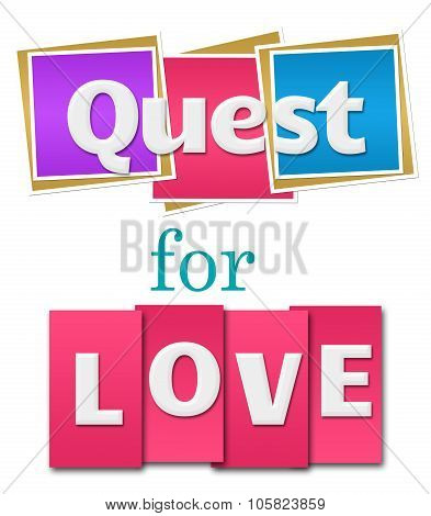 Quest For Love Colorful Squares Stripes