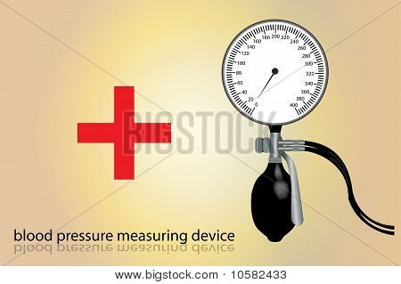 Blood pressure measuring device.
