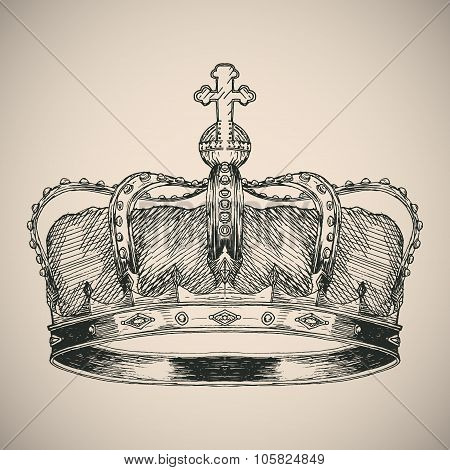 Crown symbol sketch.