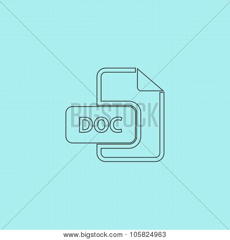 DOC vector file extension icon.