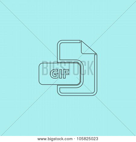 GIF image file extension icon.