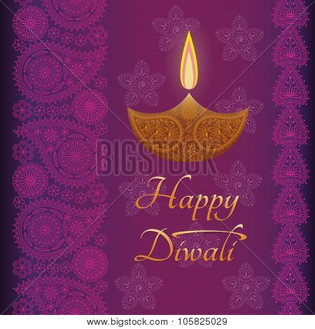 Greeting background (card) for Diwali festival celebration in India