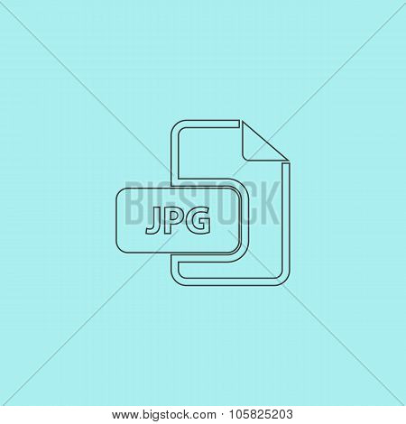 JPG image file extension icon.