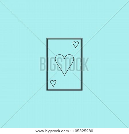 Hearts card icon