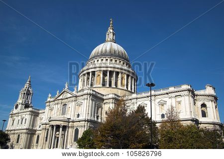 St Paul's Cathedral in London, England, UK, built after The Great Fire Of London of 1666, is Christo
