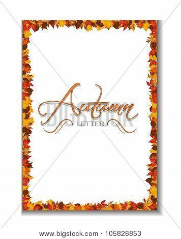 Autumn Letterhead Background