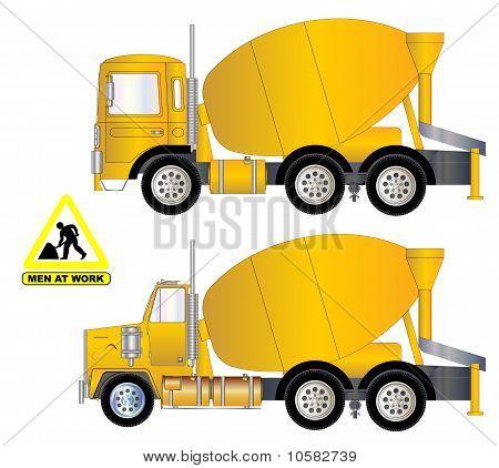 Vektor Zement LKW A.eps