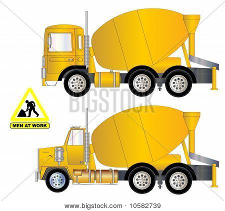 Vector Cement Truck A.eps