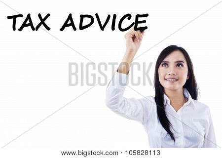 Female Worker Giving Tax Advice