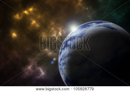 Earth In Space Background / Earth In Space / Earth In Space Abstract Background