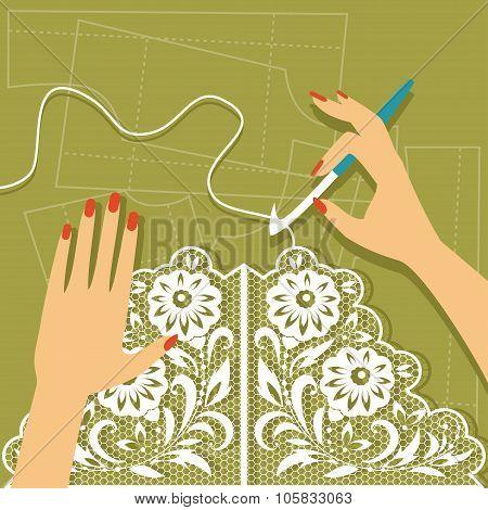 Crochet. Vector Illustration
