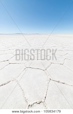 Hexagonal Shapes On The Uyuni Salt Flat, Bolivia
