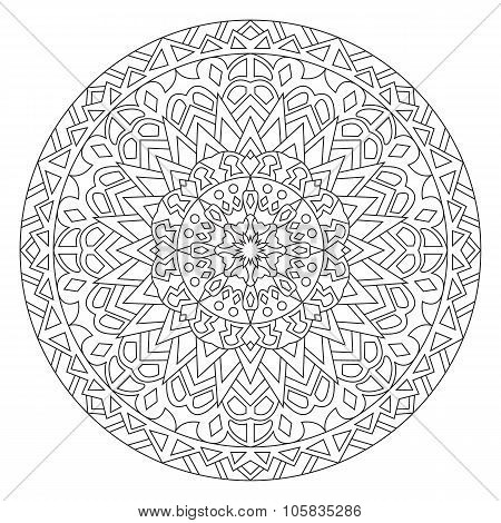 Circular pattern in ethnic style.