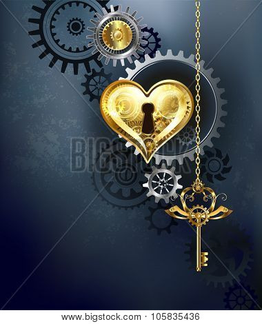 Mechanical Heart With Key
