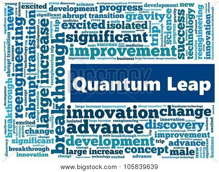 Quantum Leap in word collage