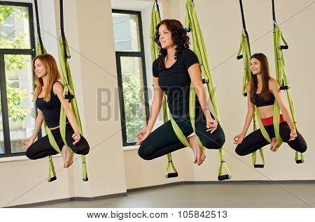 Antigravity yoga training