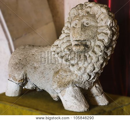 Stone carving lion or leo chinese on Greece antique