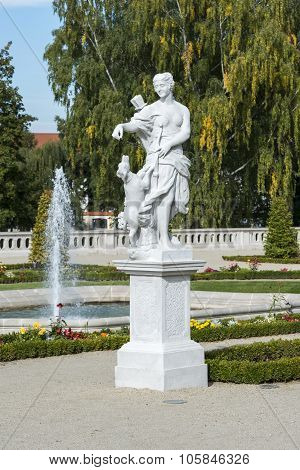 Sculpture Of Diana Goddess In Branicki Garden Palace, Bialystok