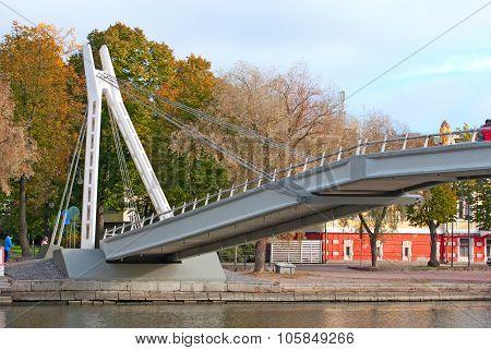 Porvoo. Finland. The Bridge over the River Porvoonjokl