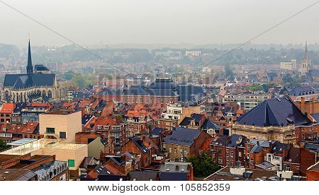 Aerial View Of Leuven, Belgium, From University Tower
